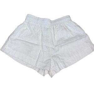 Princess Poly White Linen/Cotton Blend Shorts Sz 2